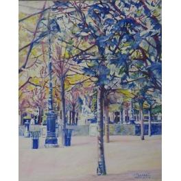 Arbre bleu du jardin du Palais Royal